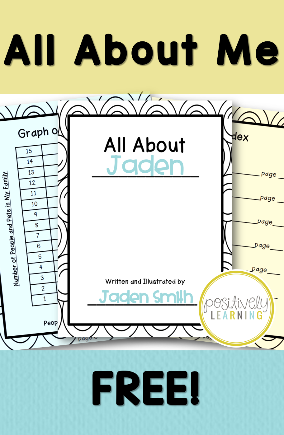 Free All About Me Writing perfect for practicing text features and Back to School! From Positively Learning Blog