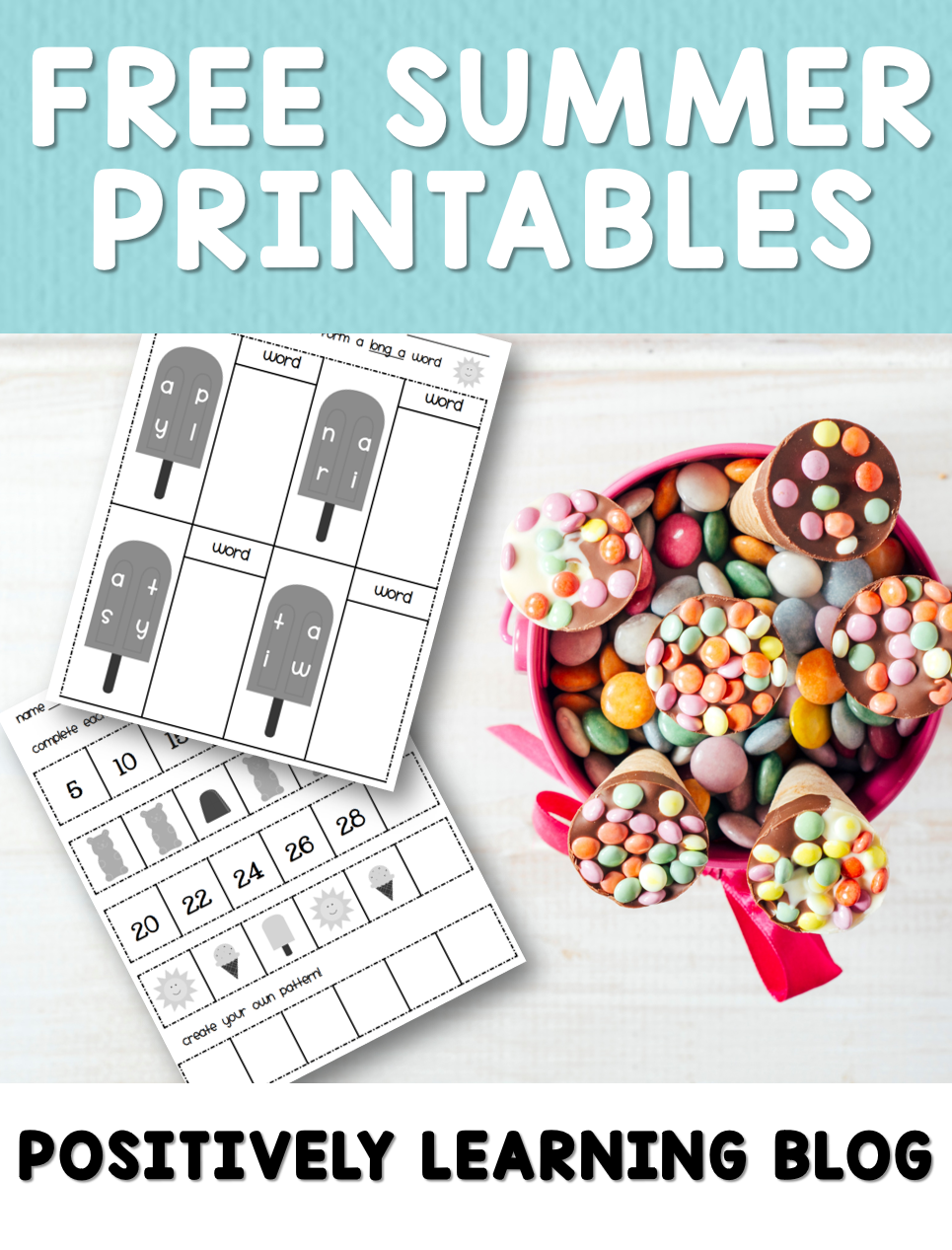 Free Summer Printables! Have a sweet summer from Positively Learning Blog