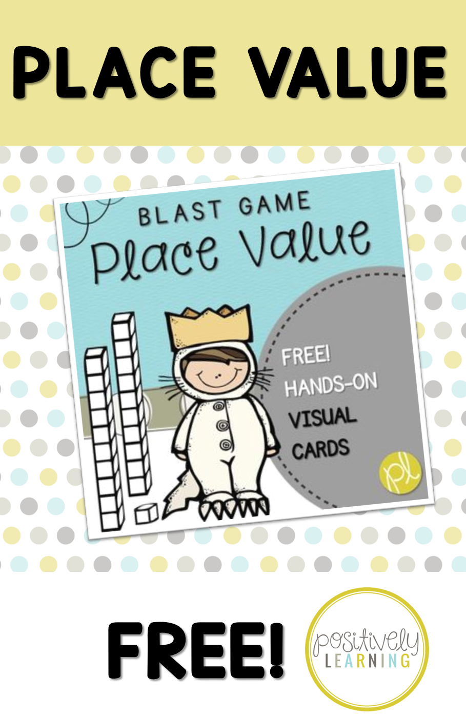 Free Place Value Game for small groups or Guided Math centers from Positively Learning Blog