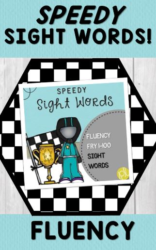 Speedy Sight Words to build fluency from Positively Learning