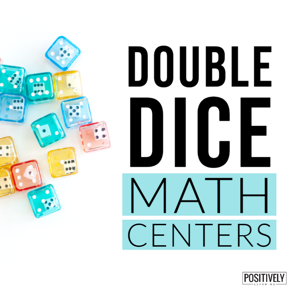 Double the dice, double the math fun! You can also double the learning with the free math dice recording pages. Add to your small groups and centers!