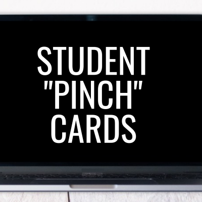 Pinch Cards for Student Engagement