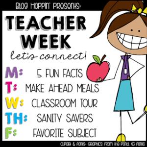 Teacher Week: Make Ahead Meals