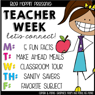 Teacher Week: Make Ahead Meals