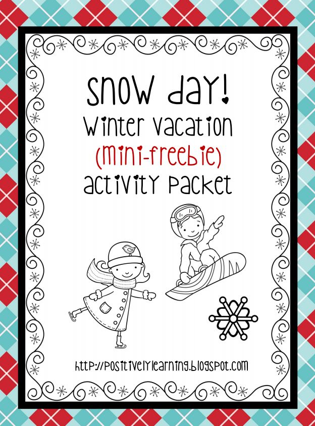 Positively Learning Freebie for Snow Days