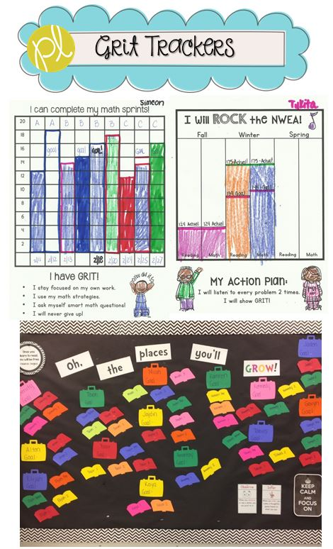 Grit Trackers Student Data Notebooks from Positively Learning