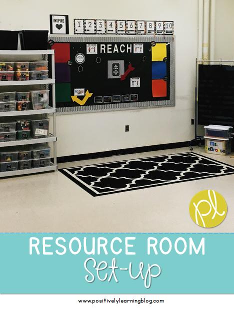 Resource Room Set-Up
