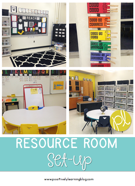 Positively Learning Classroom Setup Resource Room