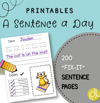 Sentence Practice Pages