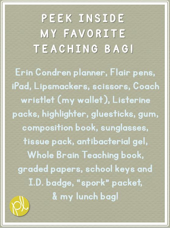 Positively Learning: Inside my Favorite Teaching Bag