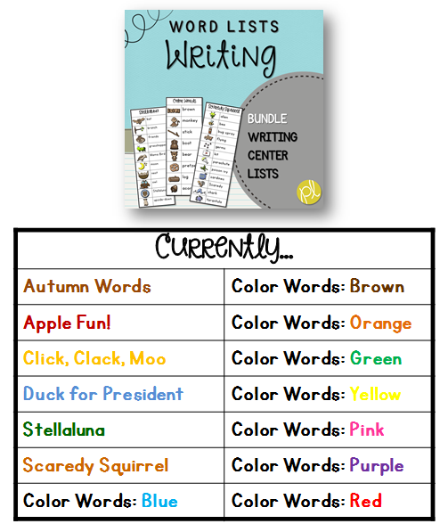 Personal Word Lists for Writing Centers