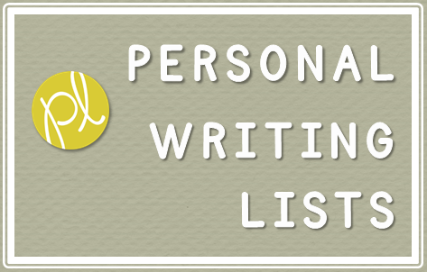 Personal Writing Lists