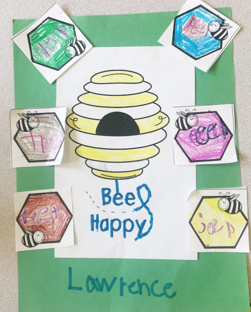 Positively Learning Long E Bees Game and Phonics Craft