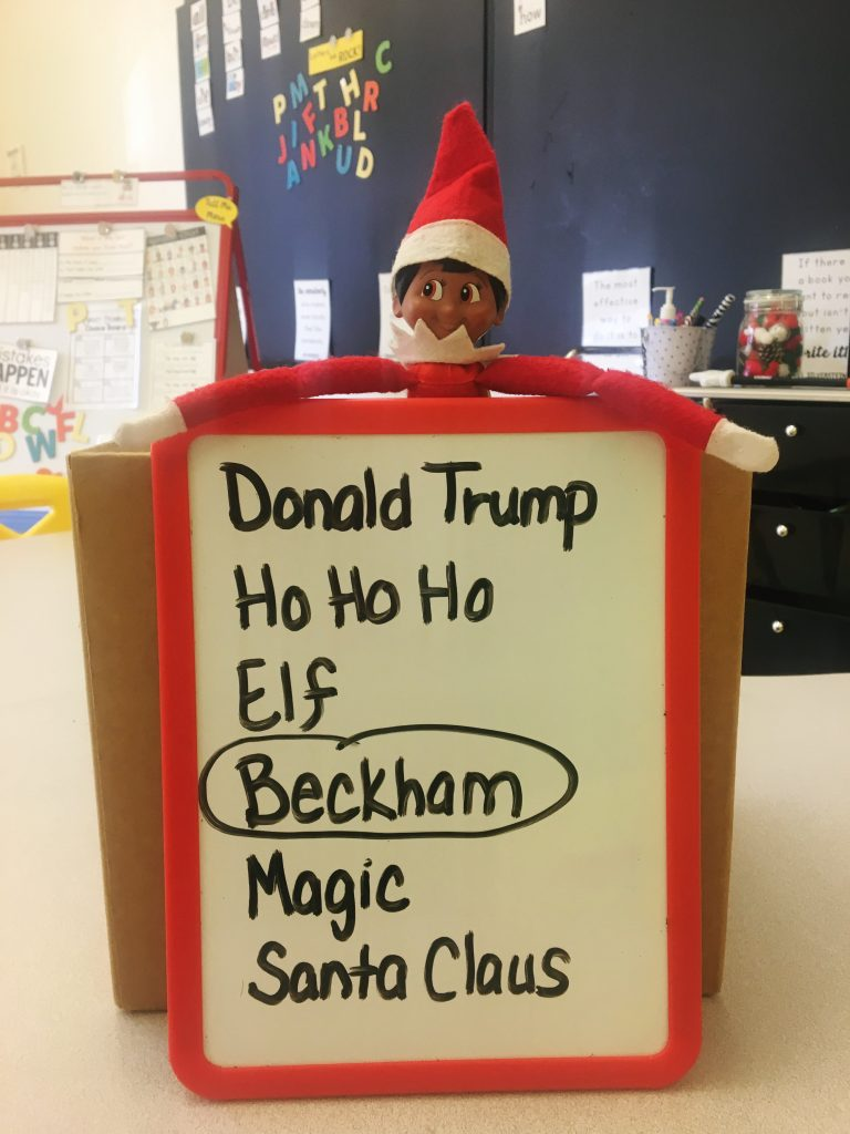 Name the Elf! Positively Learning Blog