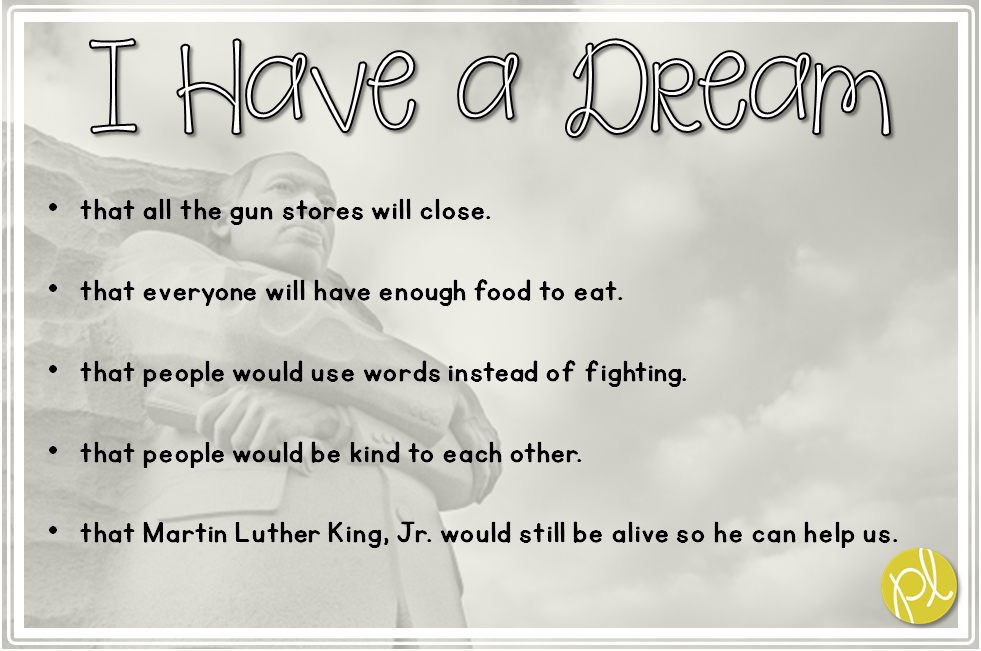 I Have a Dream Martin Luther King, Jr. activities for the classroom Positively Learning Blo