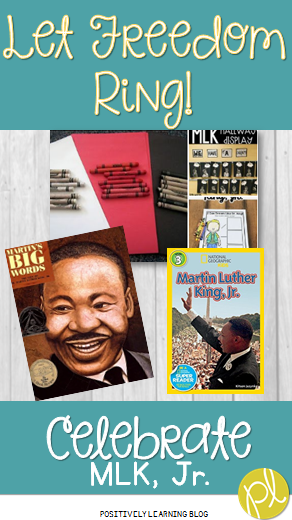 Martin Luther King, Jr. activities from Positively Learning Blog