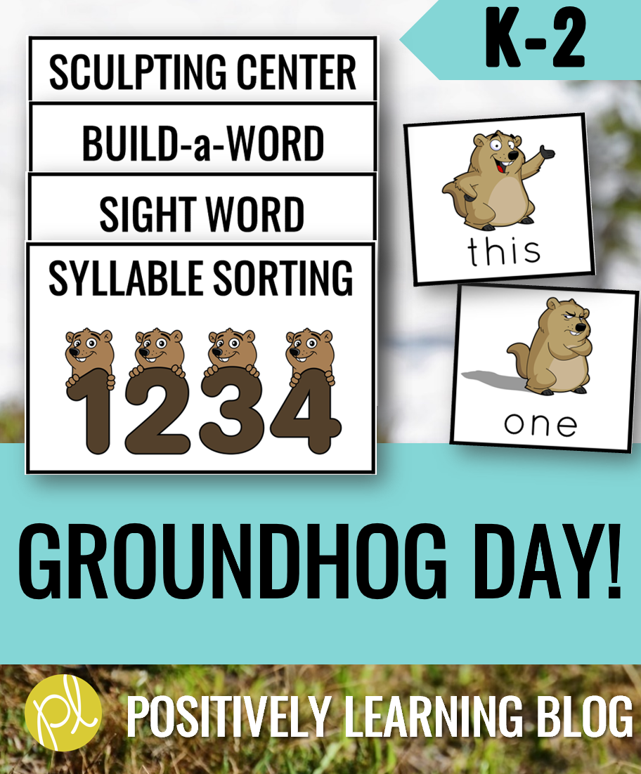 Happy Groundhog Day! Since we can't take off a day from our curriculum, I found some engaging ways to add a little literacy fun with Phil and his friends. I used these resources with my Guided Reading small groups! From Positively Learning