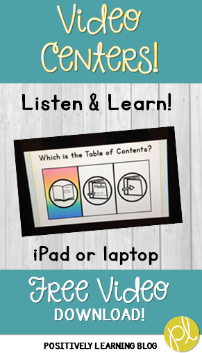 Free Guided Reading Center VIDEO! Positively Learning Blog