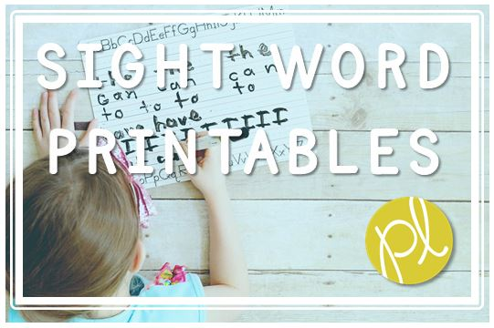 Positively Learning Blog Free Sight Word Resources