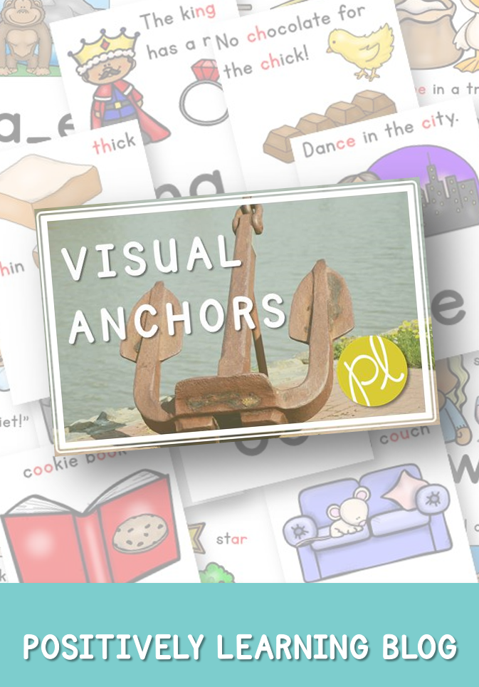 Using Visual Anchors as a Learning Support - aligned with CKLA SKills phonics sounds by Positively Learning Blog