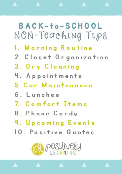 Positively Learning Blog Back to School Tips
