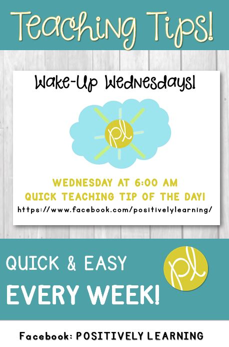 Positively Learning Blog Facebook Live Wake-Up Wednesday