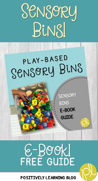 Free E-Book All About Sensory Bins by Positively Learning Blog