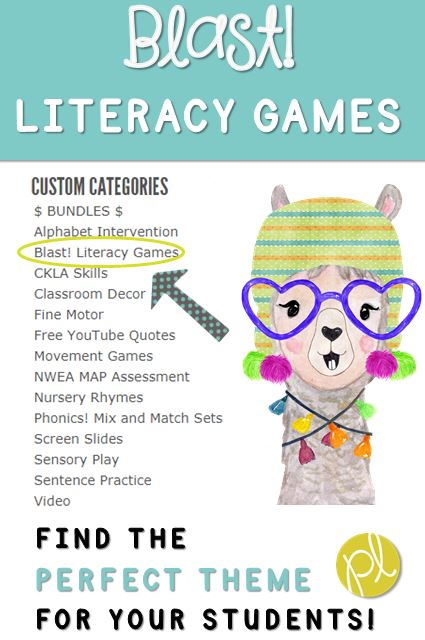 Blast Games Literacy Activities by Positively Learning