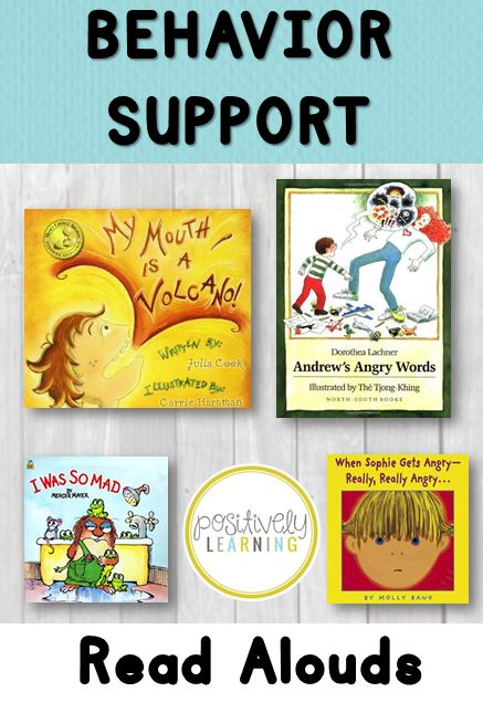 Books to support classroom behavior from Positively Learning Blog