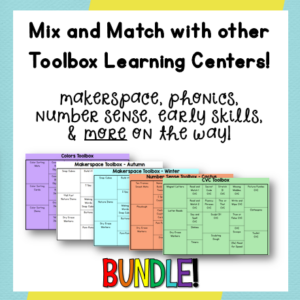 Student Toolbox Learning Centers can be easily switched to differentiate for your students! From Positively Learning