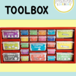 Keep task cards and hands-on materials ORGANIZED with this Teacher Toolbox...but for students! From Positively Learning