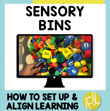 Free video! Have you been thinking about adding sensory bins, but not sure where to begin? I'm sharing a free video with my best tips to setting up sensory play and aligning it to learning! From Positively Learning