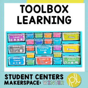 Makerspace activities stored in a teacher toolbox! From Positively Learning Blog