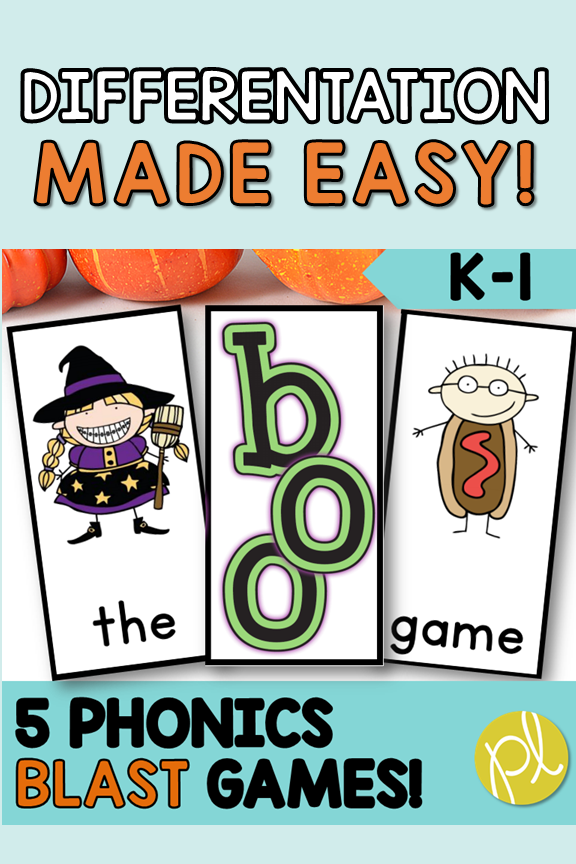 Boo! Halloween Blast Game - add to your Guided Reading small groups! From Positively Learning