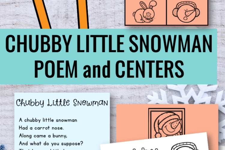 Chubby Little Snowman had a carrot nose...nibble, nibble, crunch, crunch - uh, oh! Your students will LOVE using this adorable poem with the literacy centers and retell resources.