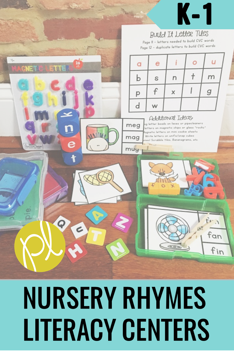 Add familiar nursery rhymes and poems to your small reading groups and literacy centers. This bundle will grow to include nursery rhyme activities for the entire school year!