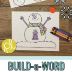 Snowman Phonics Craft
