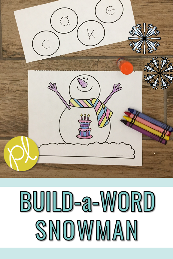 Snowman Phonics Craft