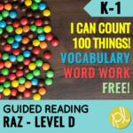 Do you use Reading A-Z? Grab this free word work resource to go with Level D I Can Count 100 Things! From Positively Learning Blog
