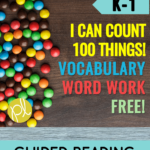 Free word work to use with I Can Count 100 Things! Level D book from Reading A-Z.