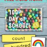Happy 100th Day of School! Read on to learn how we combine celebrating with learning during Guided Reading and download your free word work! From Positively Learning