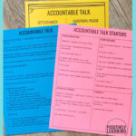 Accountable Talk Free Printables for teachers and students. Add these to your daily conversations. From Positively Learning Blog #accountabletalk #studentdiscourse