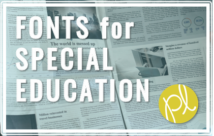 Special Education Fonts
