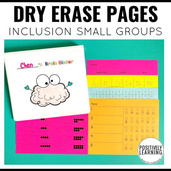 Dry Erase Pages for Inclusion Small Groups #inclusion #smallgroups