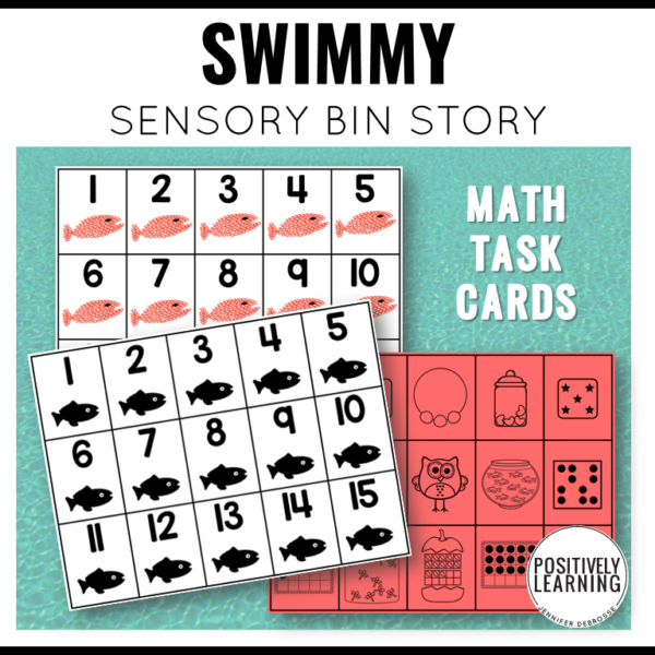 Swimmy sensory bin based on my favorite Leo Lionni book.