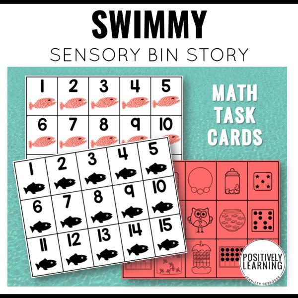 Swimmy sensory bin based on my favorite Leo Lionni book.