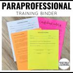 Paraeducator Binder
