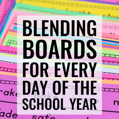 Blending Boards for Phonics Fluency