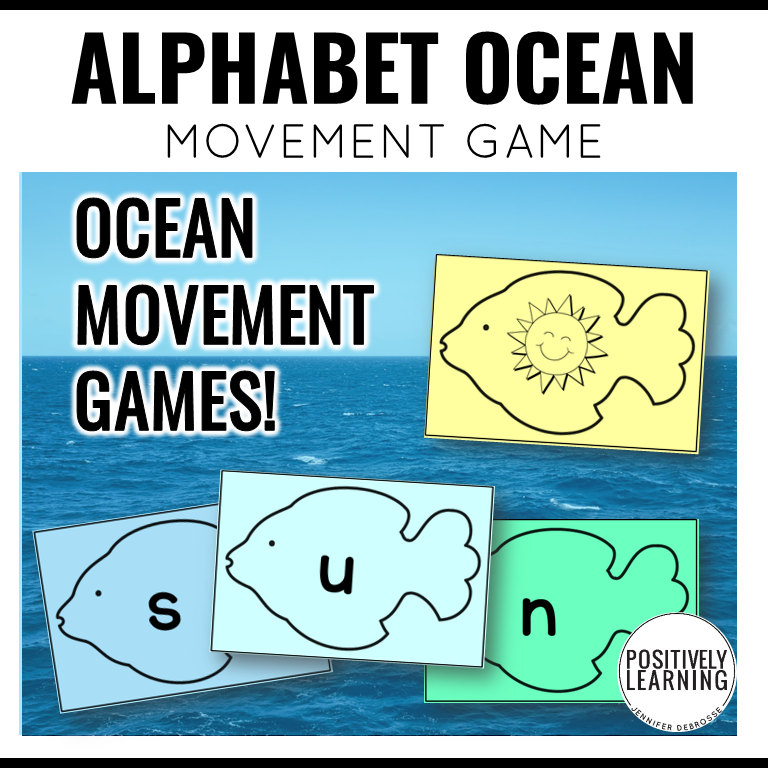 "Alphabet Movement Activities - students will ""swim"" around the room while learning!"