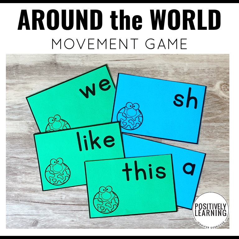 Five games in one with these differentiated movement games!